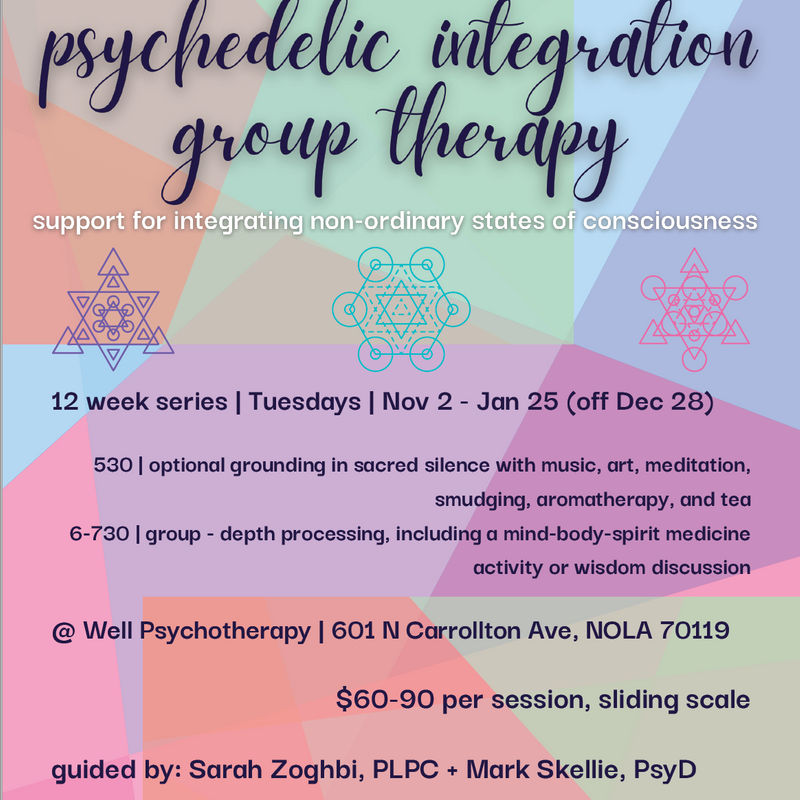 Psychedelic Integration Therapy Group - Support for Integrating Non-Ordinary States of Consciousness is a community on Psychedelic.Support
